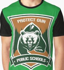 Protect our Public Schools from Grizzly Attacks Graphic T-Shirt