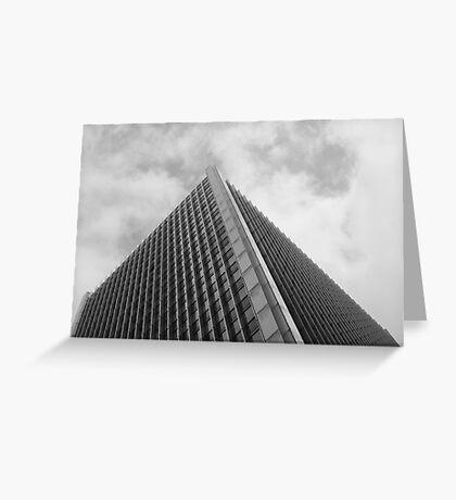 Looking Up v1 - Central District, Hong Kong Greeting Card
