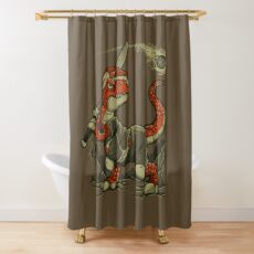 Fight The Asteroid Shower Curtain