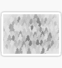 Winter white forest. Spruce forest illustration. Nature background of trees. Green trees texture. Wood drawings. Wanderlust. Adventure and nature Sticker