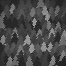 Black forest. Spruce forest illustration. Nature background of trees. Green trees texture. Wood drawings. Wanderlust. Adventure and nature by aquapixel