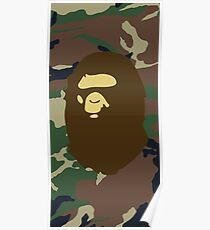 Bape Camouflage  Poster