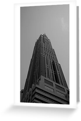 Looking Up v3 - Hong Kong New World Tower, Shanghai by Jonathan Russell