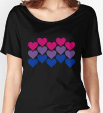 Bisexual Heart Collection Women's Relaxed Fit T-Shirt