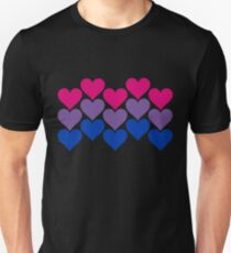 Bisexual Heart Collection Unisex T-Shirt