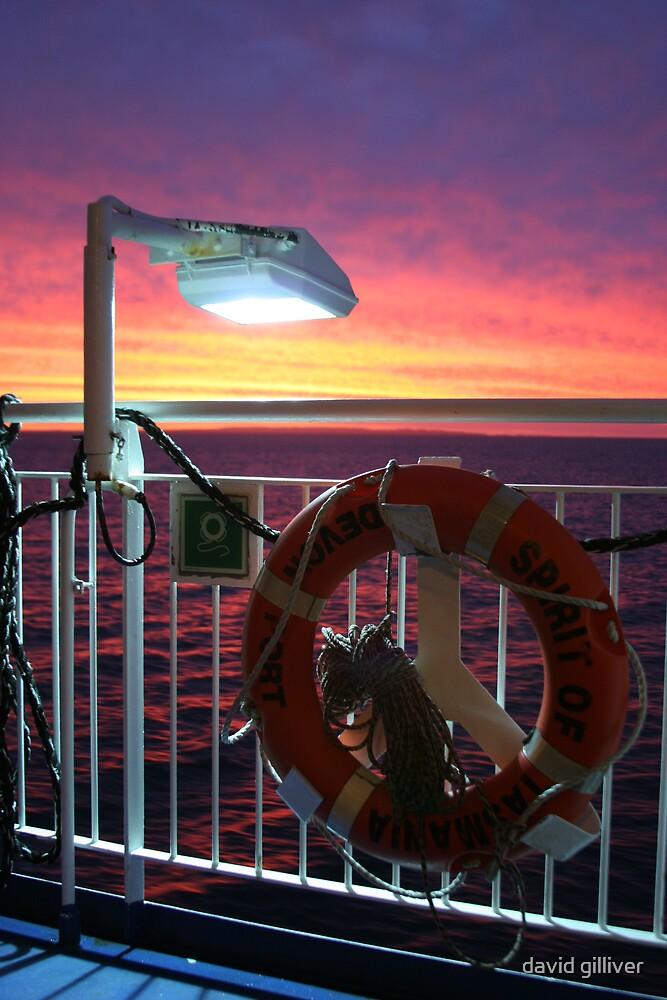 ocean sunset by david gilliver