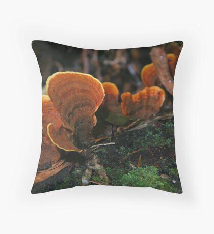 rainforest fungi Throw Pillow