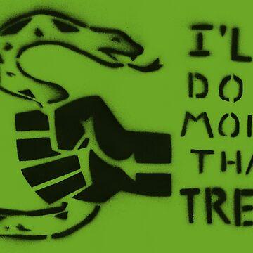 I'll Do More Than Tread (Green) by cicadahaus