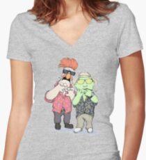 Beaker & Bunsen In Las Vegas Women's Fitted V-Neck T-Shirt