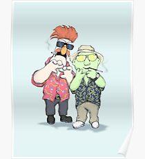 Beaker & Bunsen In Las Vegas Poster