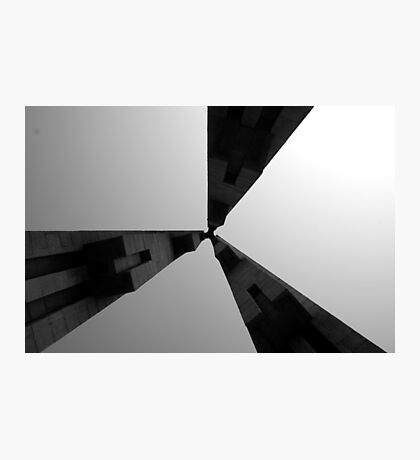 Looking Up v4 - Monument to the People's Heroes, Shanghai Photographic Print