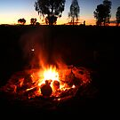 Outback campfire by Robyn Lakeman