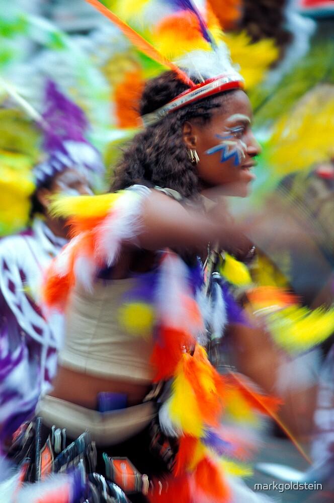 Notting Hill Carnival Dancer by markgoldstein