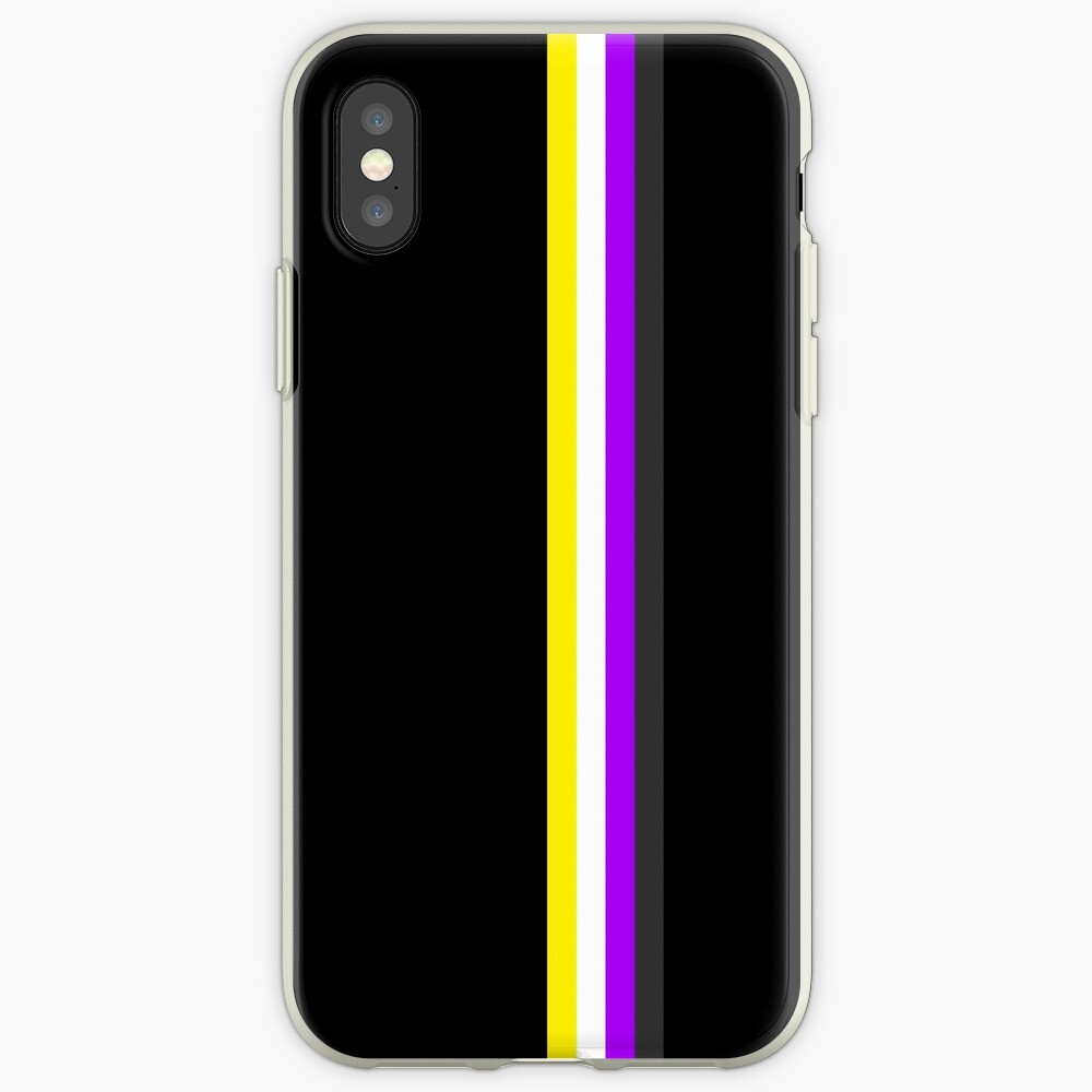 Nonbinary in Shapes iPhone Case & Cover