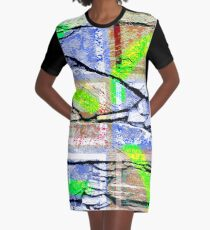 Montage with Rock Motif Graphic T-Shirt Dress