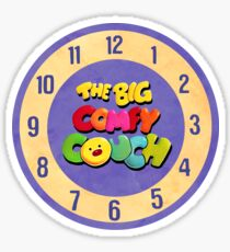 The Big Comfy Couch Clock Sticker