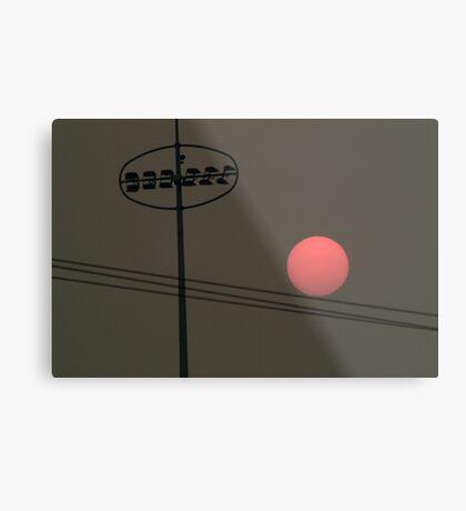 Smoke at Sunset Metal Print