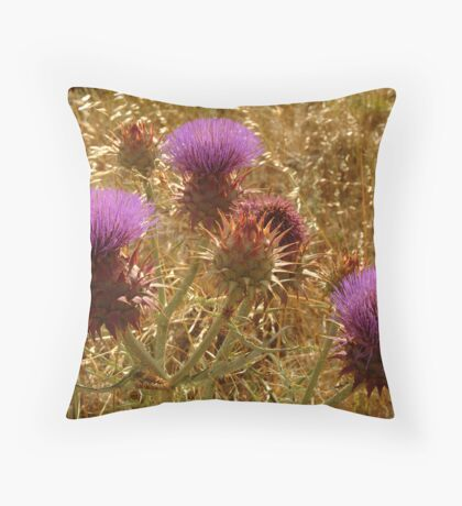 Purple Thistle,Geelong District Throw Pillow