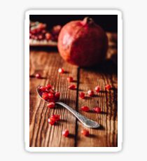 Pomegranate Seeds in Spoon Sticker