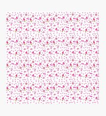 Fun, pink and cute illustrated pattern Photographic Print