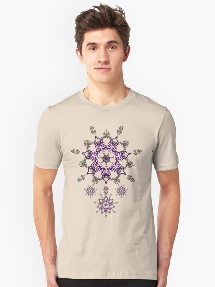 lavender star Unisex T-Shirt Front