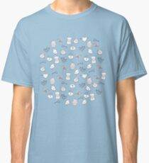 Cute cats, birds and love elements Classic T-Shirt
