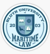 Bluth University of Maritime Law Sticker