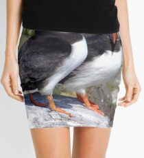Puffins Passing time of day Mini Skirt