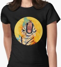 Wild Yawn - Tiger portrait Womens Fitted T-Shirt