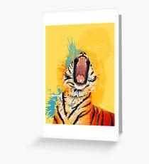 Wild Yawn - Tiger portrait Greeting Card