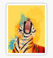 Wild Yawn - Tiger portrait Sticker