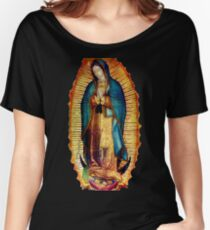 Our Lady of Guadalupe Tilma Replica Relaxed Fit T-Shirt