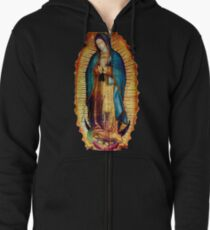 Our Lady of Guadalupe Tilma Replica Zipped Hoodie