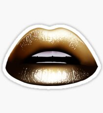 Sexy Gold Lips Sticker
