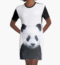 Little Panda Graphic T-Shirt Dress