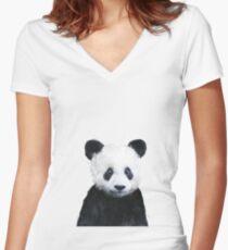 Little Panda Fitted V-Neck T-Shirt