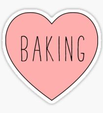 I Love Baking | Baker Sweets Heart Print Sticker