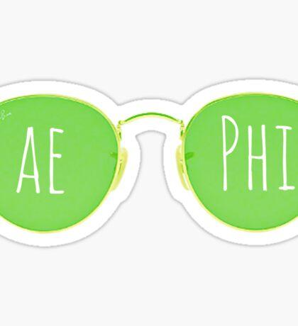 aephi sunglasses Sticker