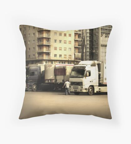 Naples Trucks Throw Pillow