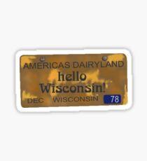 Hello Wisconsin! Sticker
