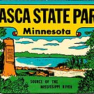 Itasca State Park Minnesota Vintage Travel Decal by hilda74