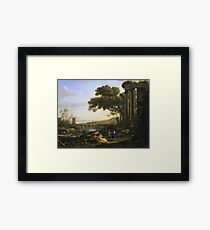 Claude Lorrain - Landscape With Nymph And Satyr Dancing Framed Print