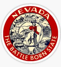 Nevada The Battleborn State Vintage Travel Decal Sticker