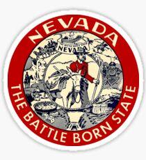 Nevada The Battleborn State Vintage Travel Decal Sticker