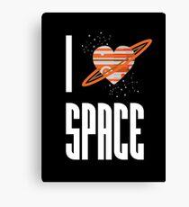 I Heart Space Canvas Print
