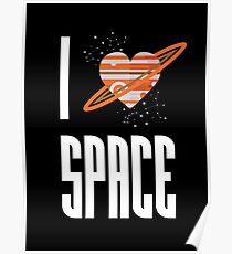 I Heart Space Poster