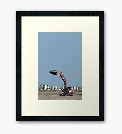 buldozer Framed Print