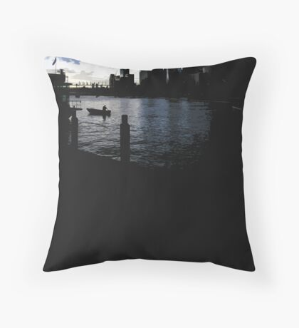 darling harbour dusk Throw Pillow