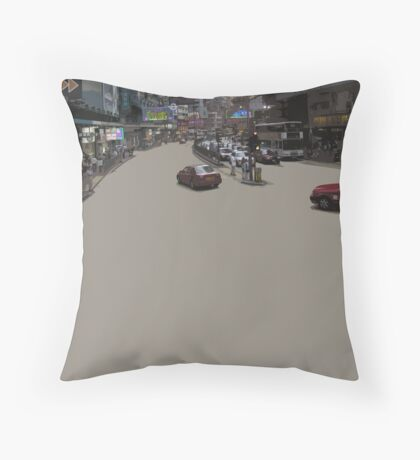 HK asphalt Throw Pillow