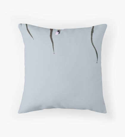 kid under the spider Throw Pillow